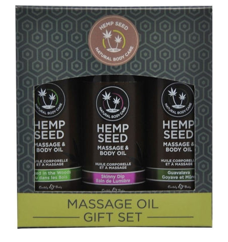 Hemp Seed Massage Oil Gift Set