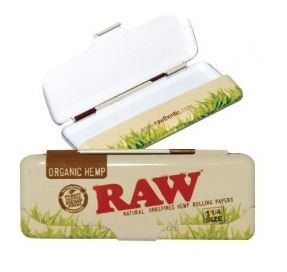 Raw Organic Rolling Paper Mini Tin - Brothers with Glass