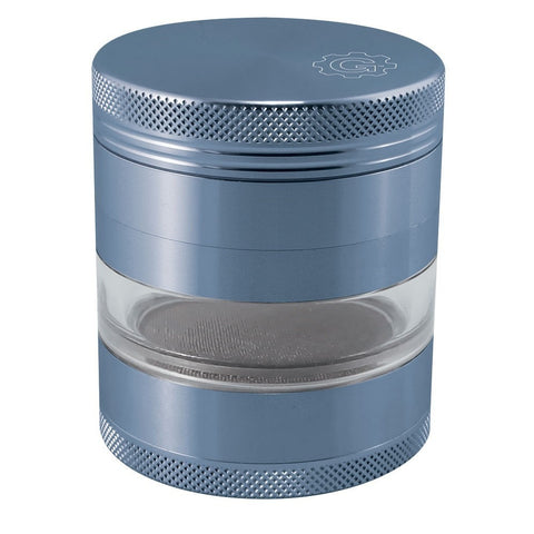 2.5 In Grindhouse 4pc Grinder With Window - Blue