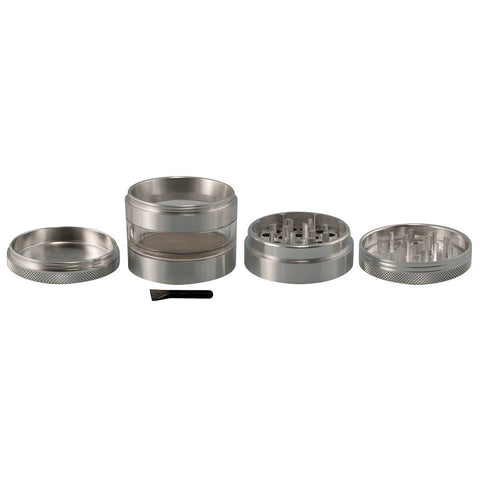 2.5 In Grindhouse 4pc Grinder With Window - Rasta