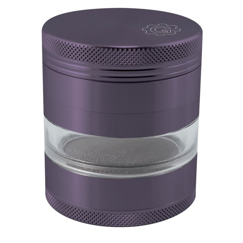 2.5 In Grindhouse 4pc Grinder With Window - Purple