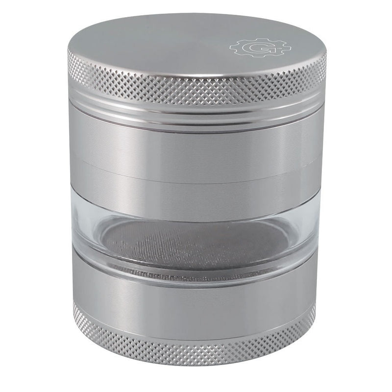 2.5 In Grindhouse 4pc Grinder With Window - Silver
