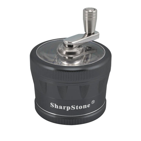 2.5 in Sharpstone 2.0 4pc Crank Top Grinder - Black