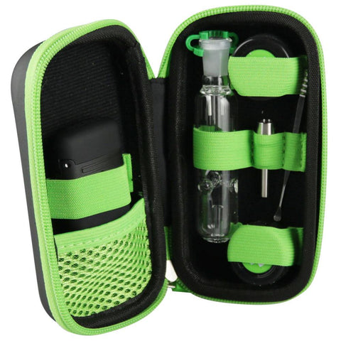 No Label Glass Dab Straw Travel Kit