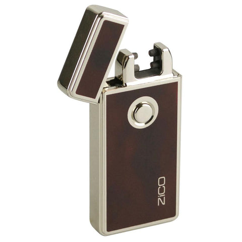 Flip Top Plasma Lighter - Wood Design