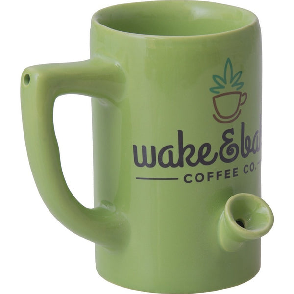 Wake and Bake Coffee Mug Hand Pipe - Brothers with Glass - 1