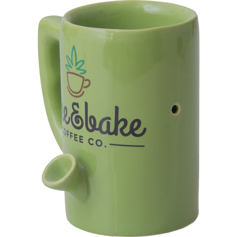 Wake and Bake Coffee Mug Hand Pipe - Brothers with Glass - 2
