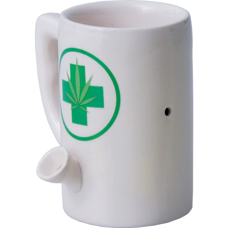 Medical Marijuana Coffee Mug Hand Pipe