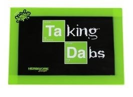 NoGoo Non Stick Platinum Cured Taking Dabs Silicone Mat - Large - Brothers with Glass