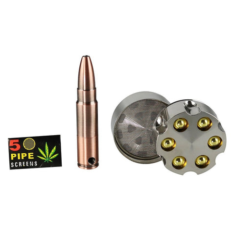 Bullet Hand Pipe With Revolver Grinder