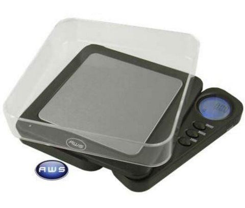 AWS Blade 1000 Back Lit Digital Scale with Tray - Black