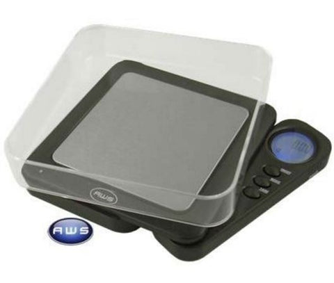 AWS Blade 650 Back Lit Digital Scale with Tray - Black