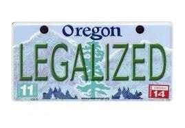 Oregon Legalized License Plate Sticker - Brothers with Glass