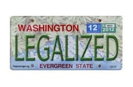 Washington Legalized License Plate Sticker - Brothers with Glass