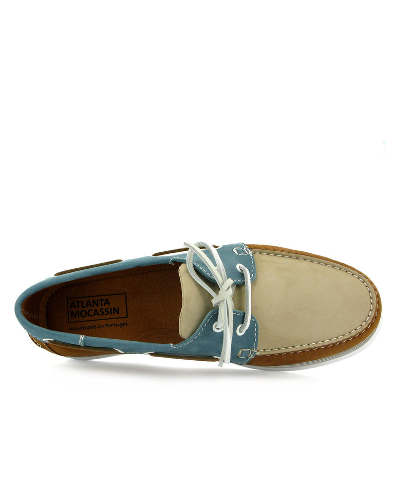 Multicolor Tricolor Boat Shoes in nubuck leather