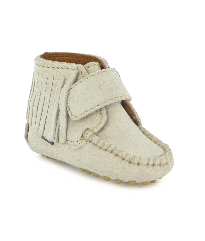 Fringed Moccasin Boots in Suede