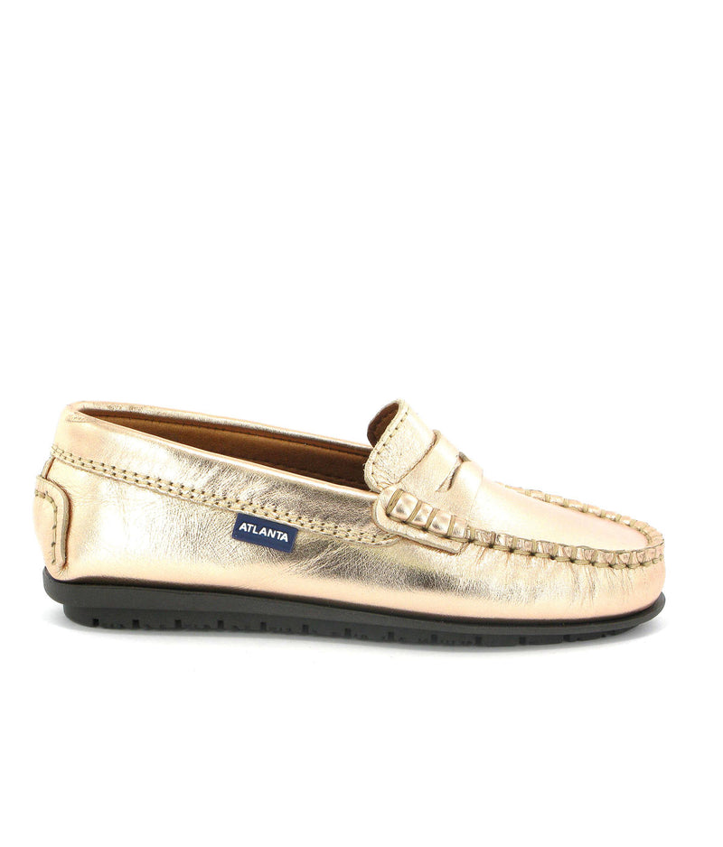Penny Moccasins in Metallic Leather
