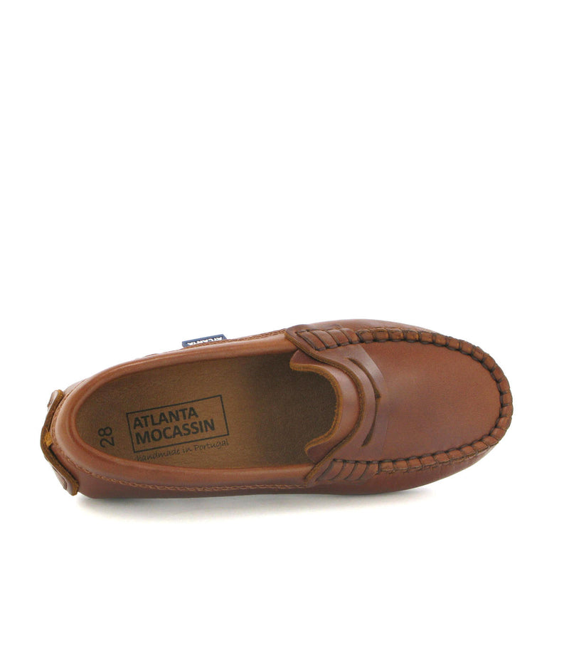 Penny Moccasins in Rustic Leather