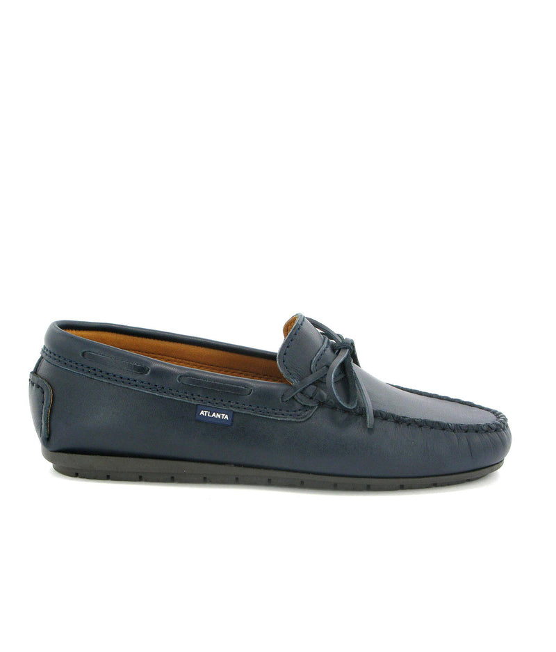 Laces Moccasins in Smooth Leather