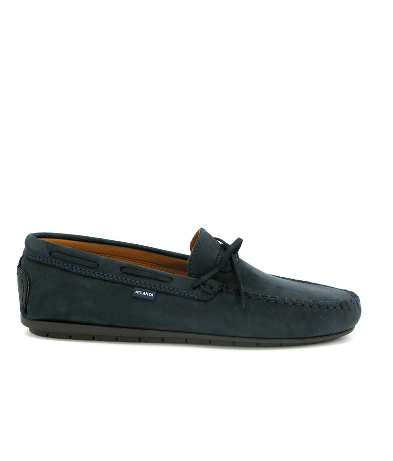 Laces Moccasins in Nubuck Leather