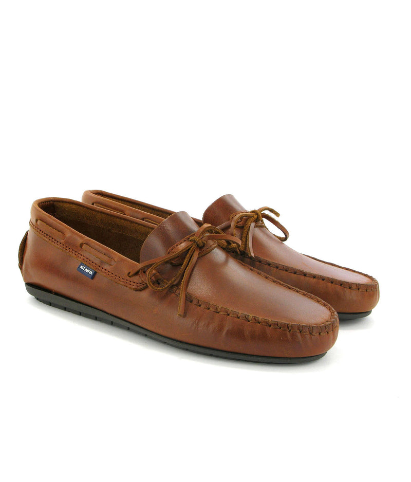 Laces Moccasins in Rustic Leather