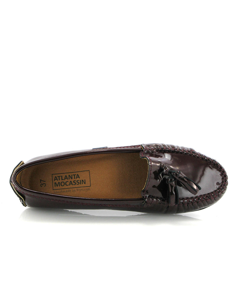 Tassel City Moccasins in Patent Leather