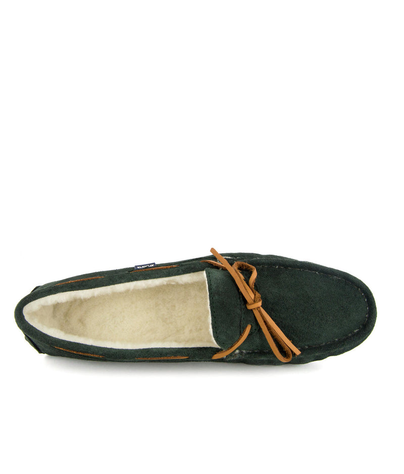 Hazel Laces Slippers in Suede
