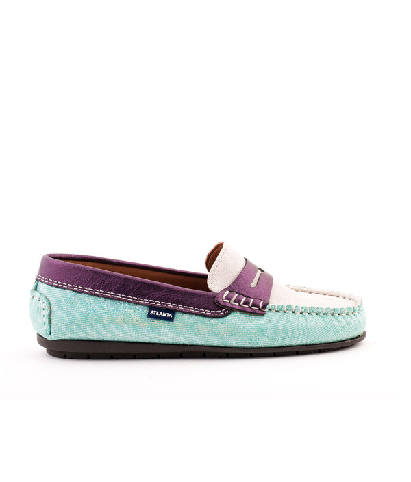 Penny Moccasins in Holographic Printed Leather