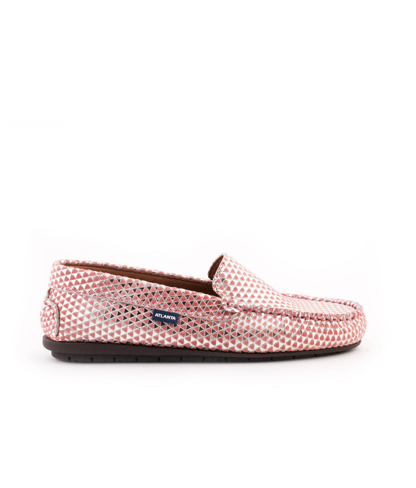 Plain Moccasins in Printed Leather