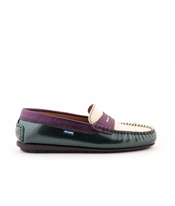 Penny Moccasins in Patent and Metallic leather