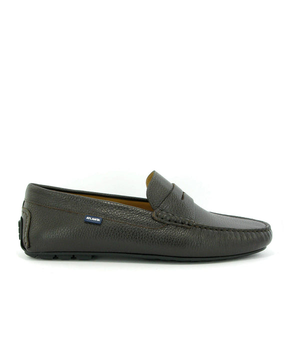 City Loafers in Grainy Leather