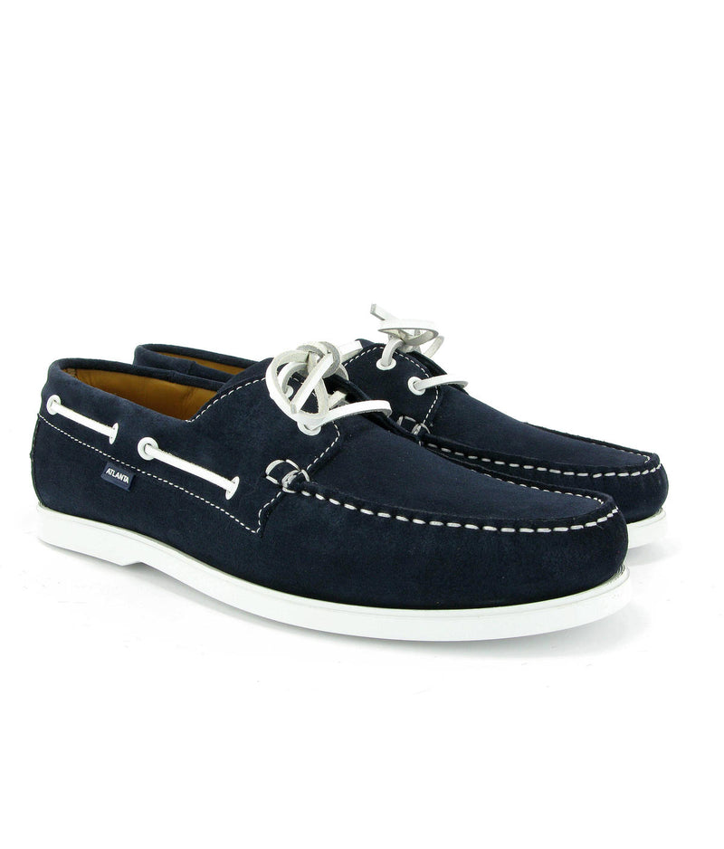 Dark blue Boat Shoes in suede