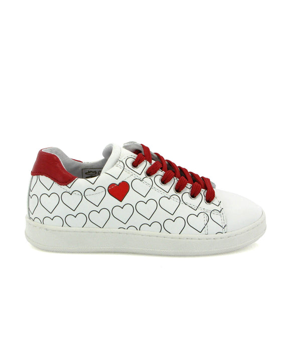 Hearts Sneakers in leather