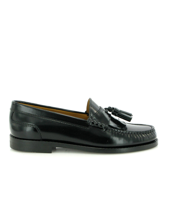 Sarah Tassel Loafers in shiny leather
