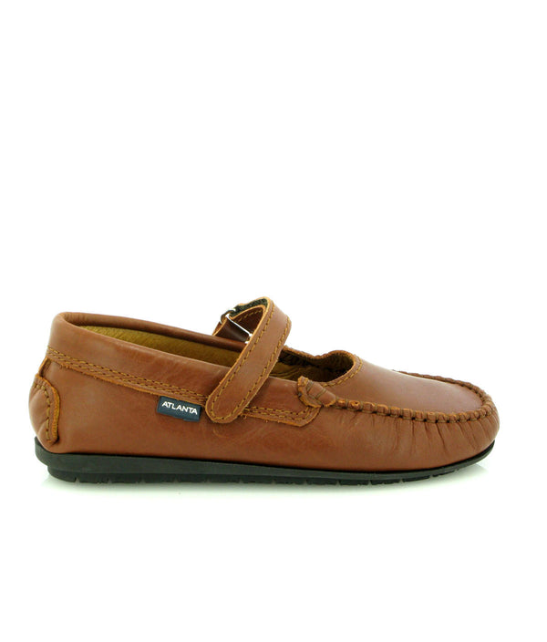 Mary Jane Moccasins in Smooth Leather