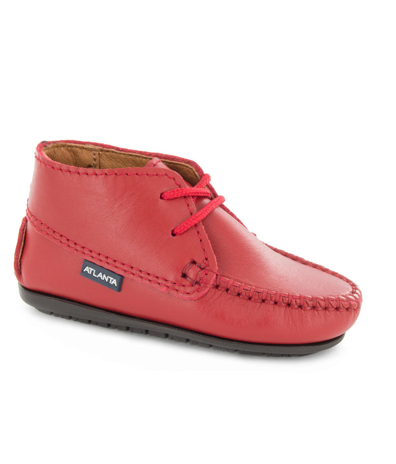 Moccasin Boots in Smooth Leather
