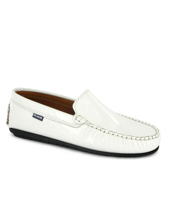 Plain Moccasins in Patent Leather