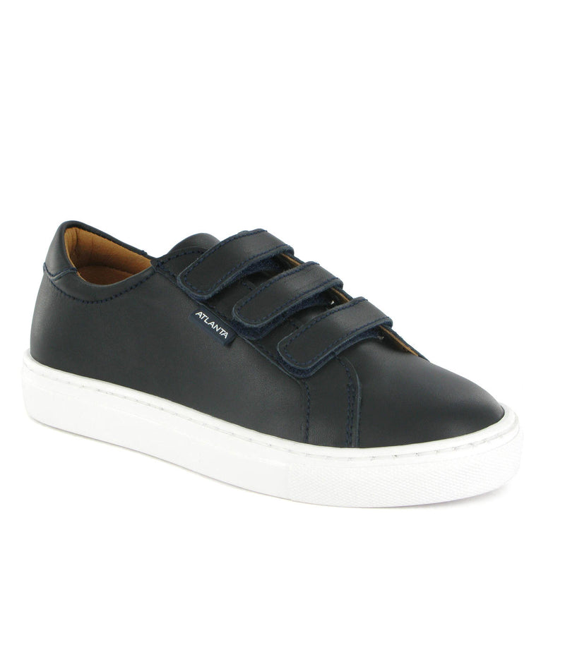 Three Straps Sneakers in Smooth Leather
