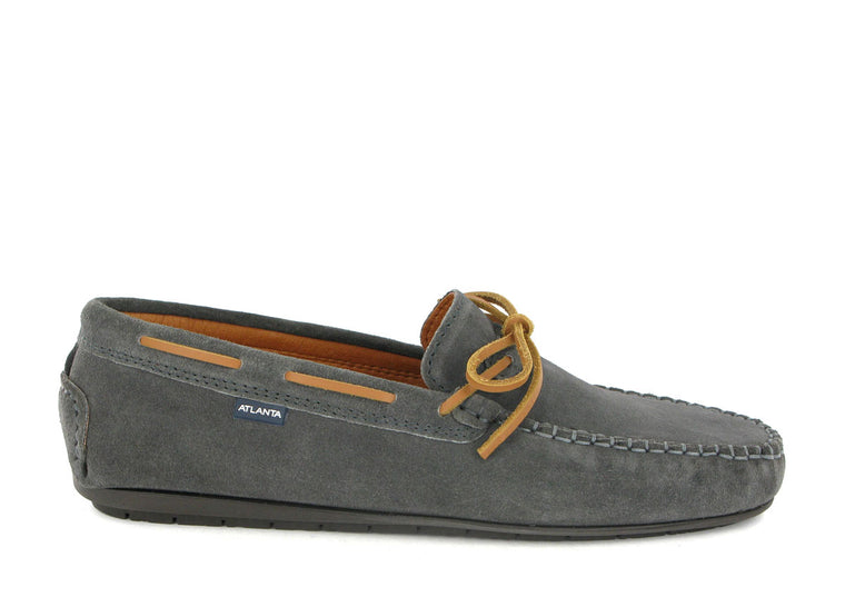 Hazel Laces Moccasin in Suede