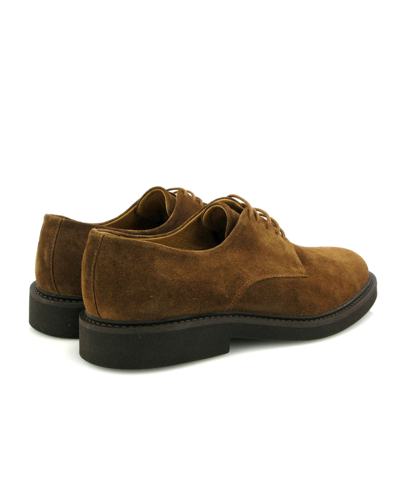 Derby shoes in Suede Leather