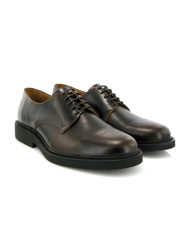 Derby shoes in Pull Up Leather