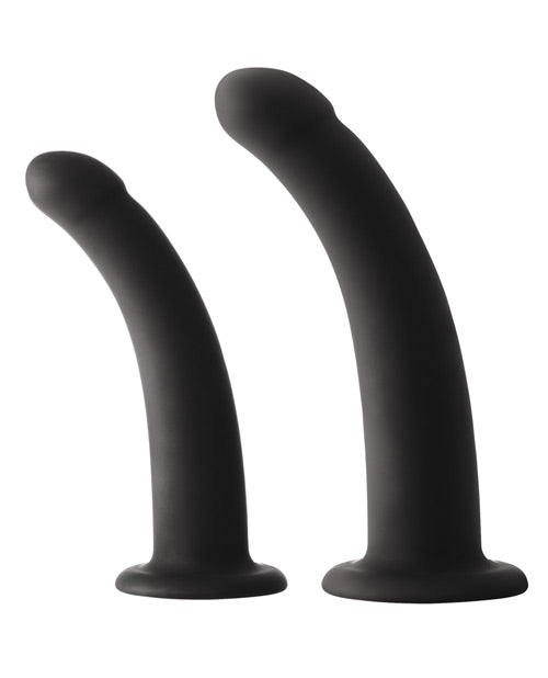 Shi Shi Sugar-sugar Dildo - Black Set Of 2