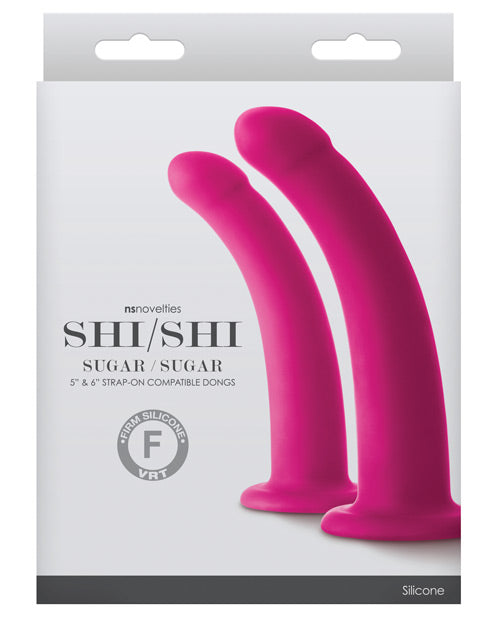 Shi Shi Sugar-sugar Dildo - Pink Set Of 2