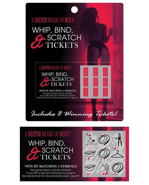 A Deeper Shade Of Reds Whip, Bind & Scratch Tickets-LoveBoxToys.com