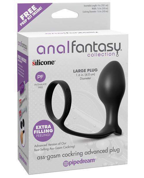 Anal Fantasy Collection Ass Gasm Advanced Plug W-cockring-LoveBoxToys.com