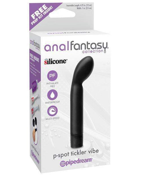 Anal Fantasy Collection P Spot Tickler Vibe - Black-LoveBoxToys.com