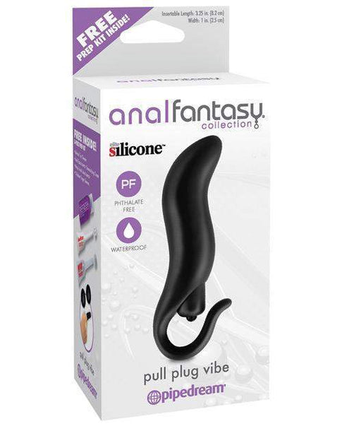Anal Fantasy Collection Pull Plug Vibe - Black-LoveBoxToys.com