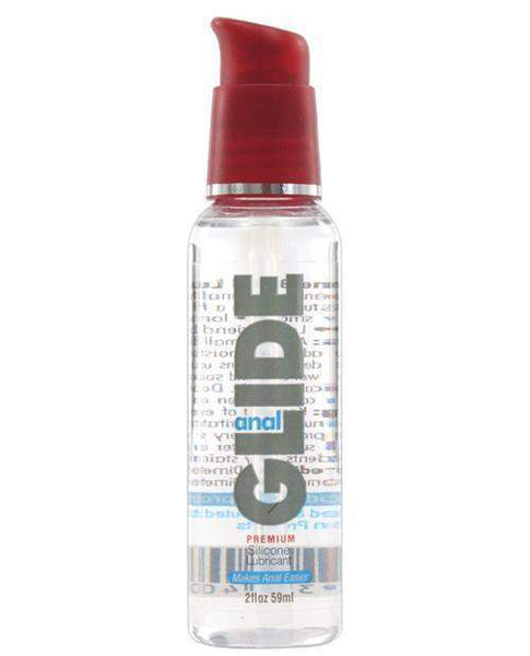 Anal Glide Silicone Lubricant - 2 Oz Pump Bottle-LoveBoxToys.com