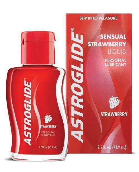 Astroglide Lubricant - 2.5 Oz Bottle Strawberry-LoveBoxToys.com