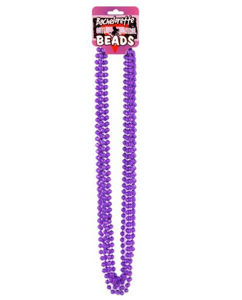 Bachelorette Outta Control Beads - Metallic Purple Pack Of 6-LoveBoxToys.com
